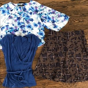 Top Lot XS/S Geisha and Anne Taylor Wrap